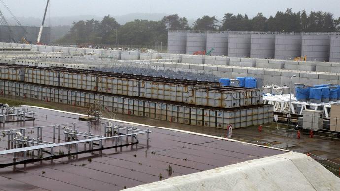 Water tanks are seen at Tokyo Electric Power Company's (TEPCO) tsunami-crippled Fukushima Daiichi nuclear power plant in Fukushima prefecture (Reuters/Noboru Hashimoto)