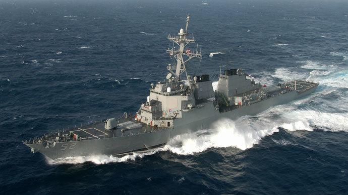 The guided missile destroyer USS Barry.(Reuters / Rob Gaston)