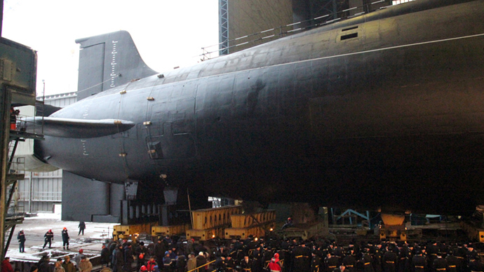 "The nuclear submarine (APL) ""Vladimir Monomakh"" (RIA Novosti)"