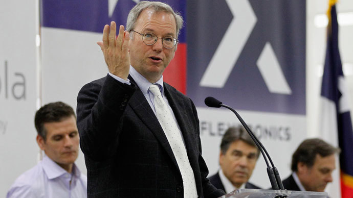 Google Executive Chairman Eric Schmidt.(Reuters / Mike Stone)