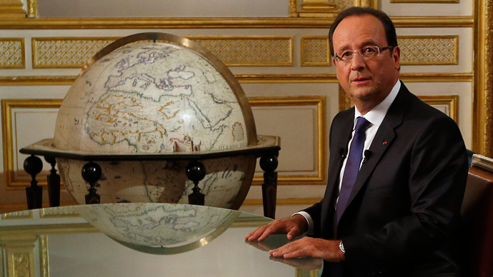 French President Francois Hollande (AFP Photo / Pool)