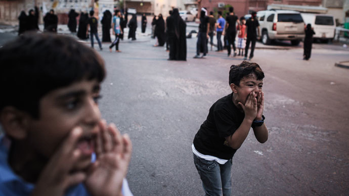 Young Bahraini boys.(AFP Photo / Mohammed Al-Shaikh)