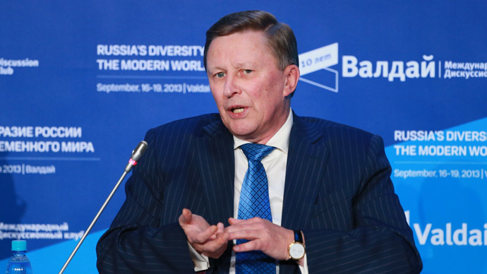 Sergey Ivanov, Chief of Staff of the Presidential Executive Office (RIA Novosti/Anton Denisov)