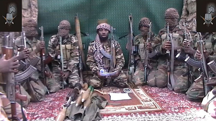 A screengrab taken on September 25, 2013 from a video distributed through an intermediary to local reporters and seen by AFP, shows a man claiming to be the leader of Nigerian Islamist extremist group Boko Haram Abubakar Shekau. (AFP/Boko Haram)