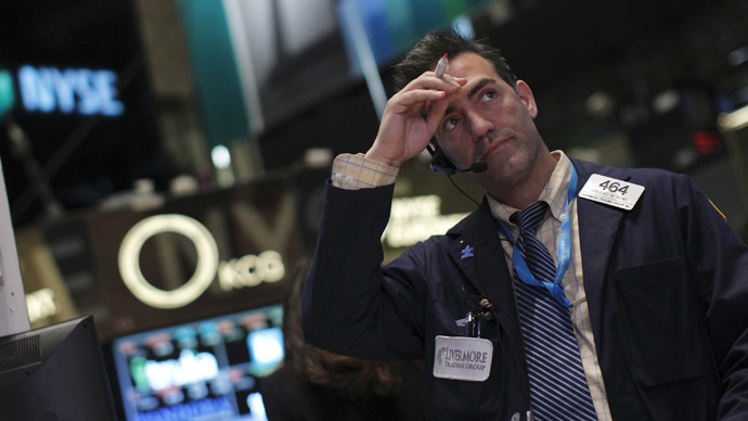 Trader works on the floor of the New York Stock Exchange (Reuters/Brendan McDermid)