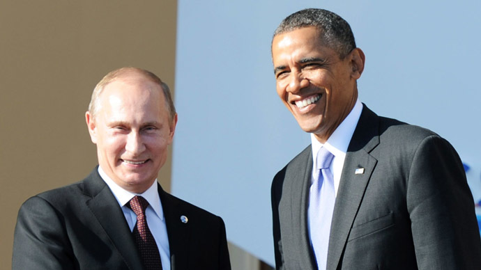Russian President Vladimir Putin, left, and President of the United States of America Barack Obama (RIA Novosti/Michael Klimentyev)
