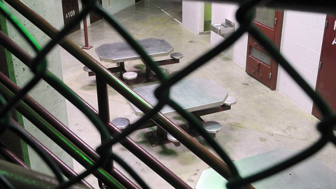 Jail cells and meeting area are seen at the US Naval Base in Guantanamo Bay, Cuba (AFP Photo / Chantal Valery)