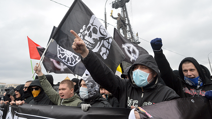 Russian March participants on Moscow streets. (RIA Novosti / Iliya Pitalev)