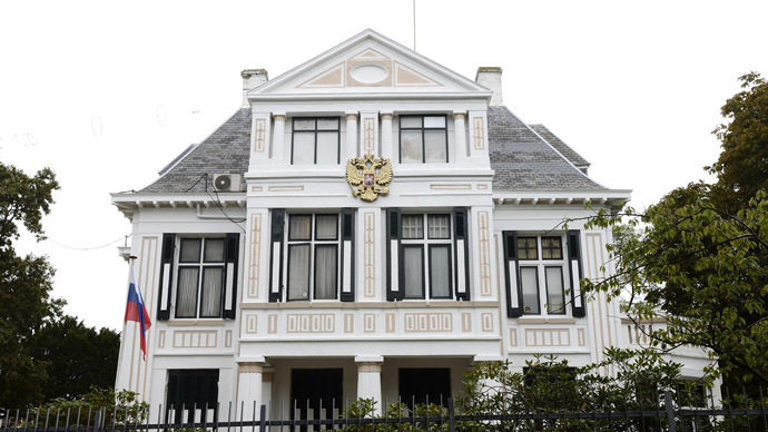 Exterior of the Russian Embassy on the Scheveningseweg in The Hague, The Netherlands, on October 9, 2013. (AFP/ANP)