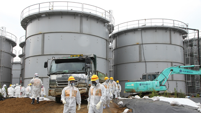 Contaminated water tanks at the Tokyo Electric Power Co (TEPCO) Fukushima Dai-ichi nuclear power plant (AFP Photo / TEPCO)