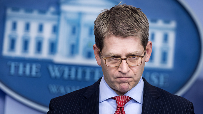 Jay Carney, the White House press secretary (AFP Photo / Brendan Smialowski)