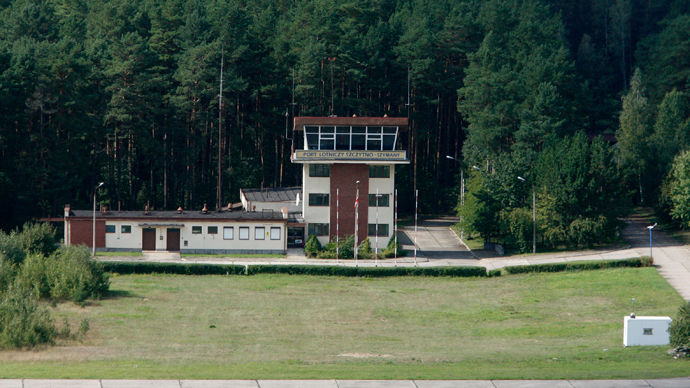 An aerial view shows a watch tower of an airport in Szymany, close to Szczytno in northeastern Poland, September 9, 2008. It was identified as a potential site which the CIA used to transfer Al-Qaeda suspects to a nearby prison. (Reuters / Kacper Pempel)