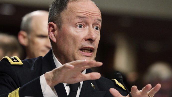 General Keith Alexander, commander of the U.S. Cyber Command, director of the National Security Agency (NSA) (Reuters/Yuri Gripas)