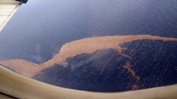 Debris floats in the Pacific Ocean off the east coast of Japan, in this U.S. Navy handout photo dated March 14, 2011. (Reuters/U.S. Navy/Mass Communication Specialist Seaman Steve White)