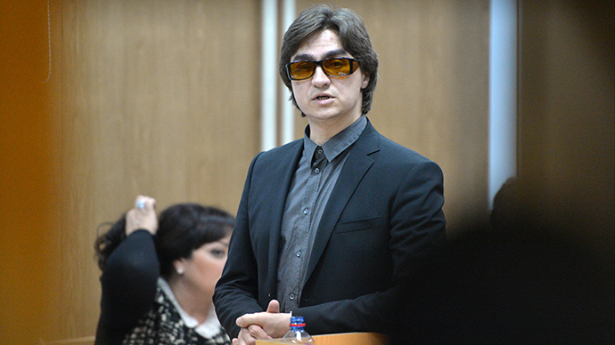 The artistic director of the Bolshoi ballet Sergei Filin testifies in the trial of former Bolshoi soloist Pavel Dmitrichenko who is charged with planning an acid attack against him, in Moscow on November 6, 2013. (RIA Novosti / Ramil Sitdikov)