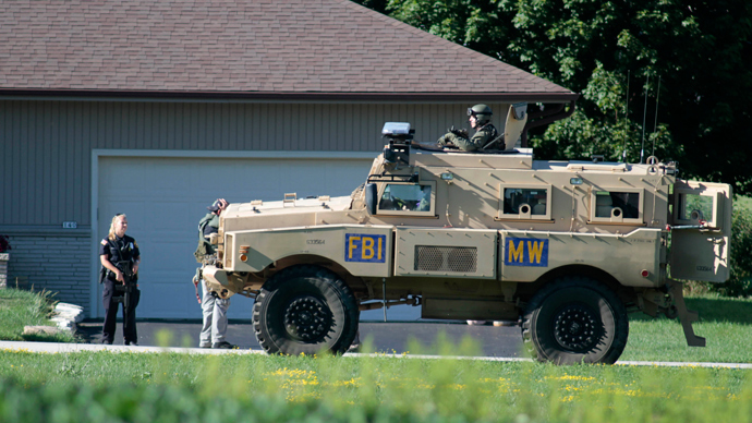 A FBI armored vehicle (AFP Photo / Darren Hauck)