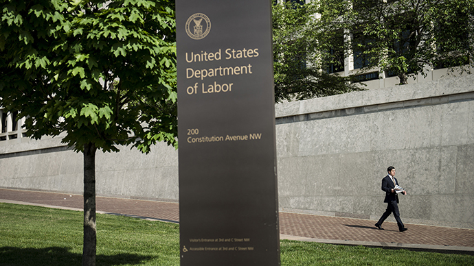 The US Department of Labor building in Washington, DC. (AFP Photo / Brendan Smialowski)