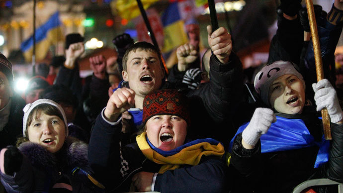 People supporting EU integration attend a rally at Independence Square in Kiev December 4, 2013.(Reuters / Vasily Fedosenko)