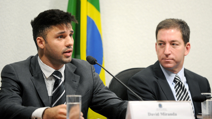 David Miranda (L), partner of the Guardian's Brazil-based reporter Glenn Greenwald (R), (AFP Photo / Evaristo Sa)