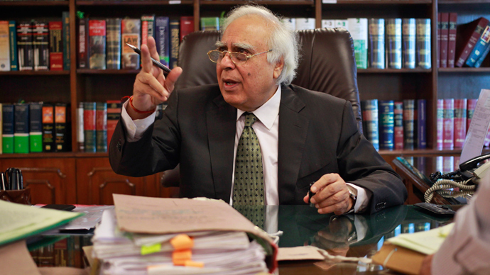 India's Telecommunications Minister Kapil Sibal (Reuters / Anindito Mukherjee)