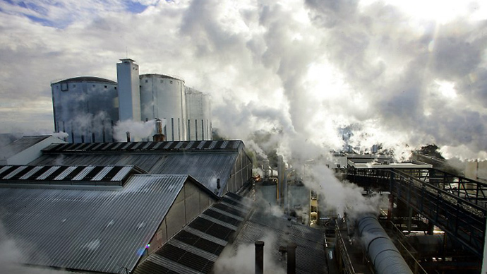 General view of the Origny sugar factory in Sainte-Benoite near Saint-Quentin. (AFP Photo / Philippe Huguen)