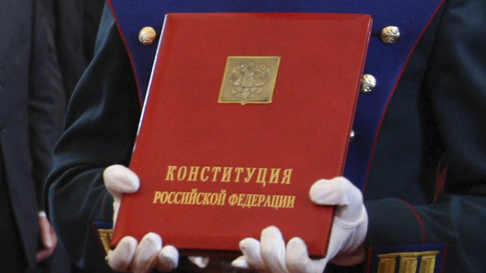 The constitution of the Russian Federation (Reuters)