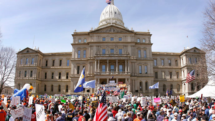 Michigan state Capitol.(AFP Photo / Bill Pugliano)