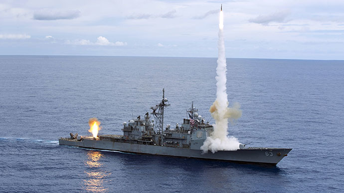 (FILES) The Ticonderoga-class guided-missile cruiser USS Cowpens (CG 63) (Reuters / U.S. Navy Photographer)