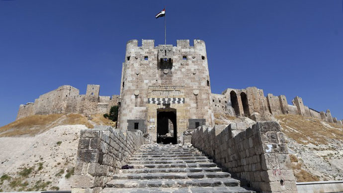 A general view shows Aleppo's historical citadel on September 4, 2012. (AFP Photo / Joseph Eid)
