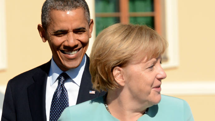 Germany's Chancellor Angela Merkel and US President Barack Obama (AFP Photo / Kirill Kudryavtsev)