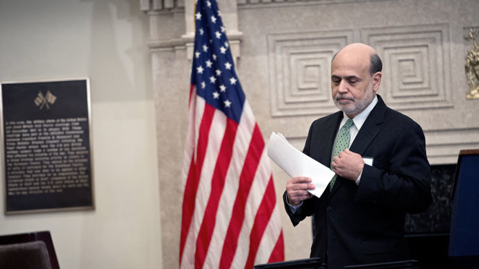 US Federal Reserve chairman Ben Bernanke.(AFP Photo / Nicholas Kamm)