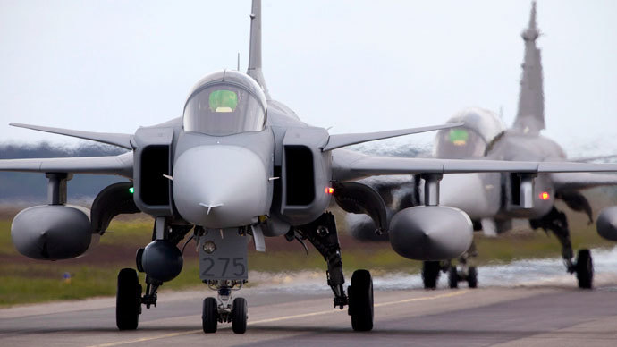 Saab JAS 39 Gripen fighter.(Reuters / Patrick Tragardh )