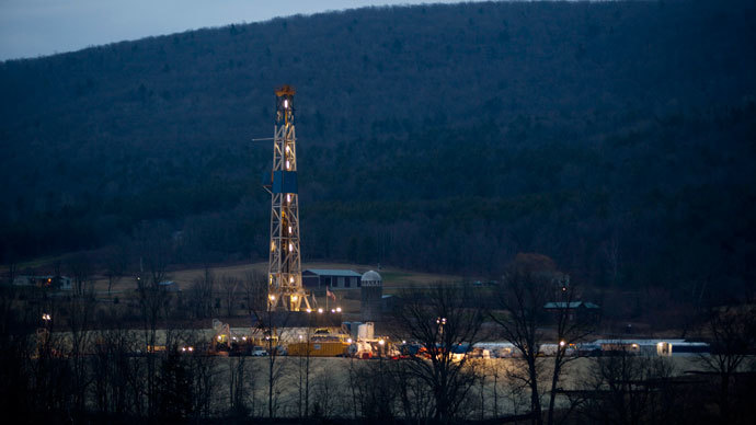 A natural gas well is drilled near Canton, in Bradford County, Pennsylvania.(Reuters / Les Stone)
