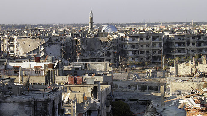 (FILES) A general view of the besieged area of Homs (Reuters / Thaer Al Khalidiya)