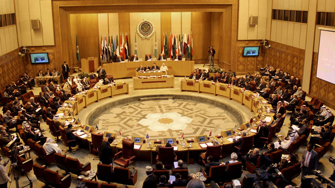 A general view shows the meeting of the Arab League Foreign ministers in the Egyptian capital Cairo on December 21, 2013. (AFP Photo/Hassan Mohamed)