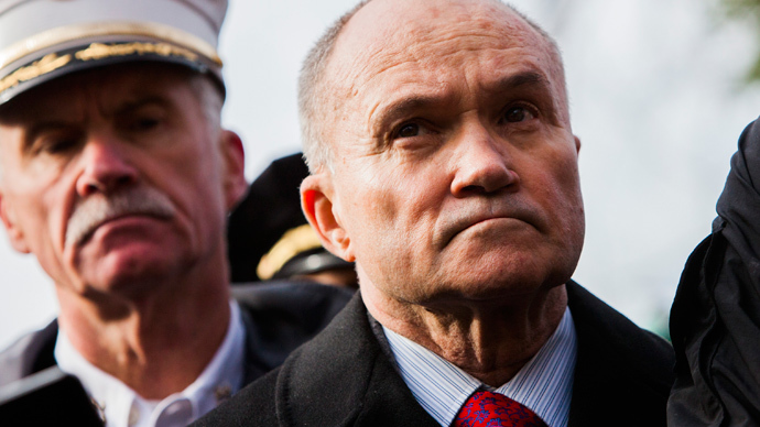 Commissioner of the New York City Police Department (NYPD) Ray Kelly (R), (Christopher Gregory / Getty Images / AFP)