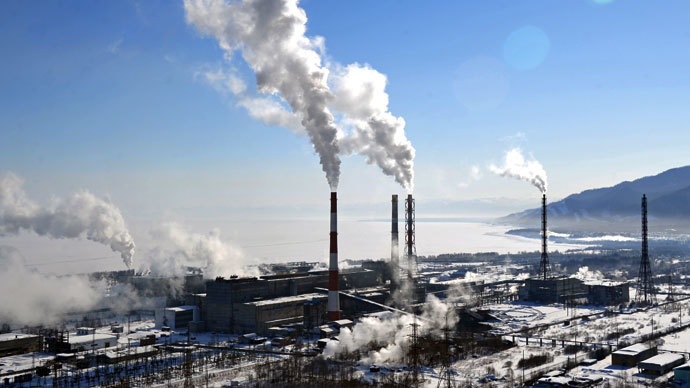 View of the Baikal Pulp and Paper Mill in the Irkutsk Region.(RIA Novosti / Alexey Kudenko)