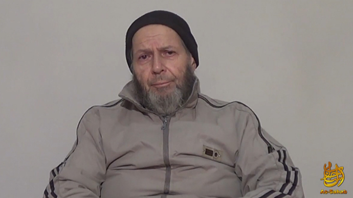 A still image taken from video and released by the Site Intelligence Group on December 26, 2013 shows Warren Weinstein, a US contractor held by Al-Qaeda militants (AFP Photo /  Site Intelligence Group)