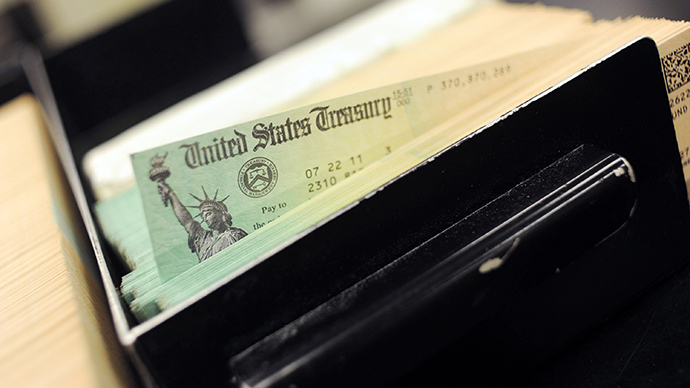 U.S Treasury Facility Prints Social Security Checks (AFP Photo / William Thomas Cain)