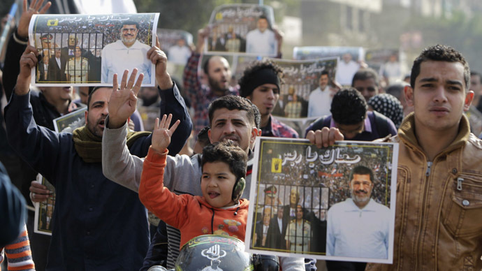Supporters of the Muslim Brotherhood and ousted Egyptian President Mohamed Mursi (Reuters/Mohamed Abd El Ghany)