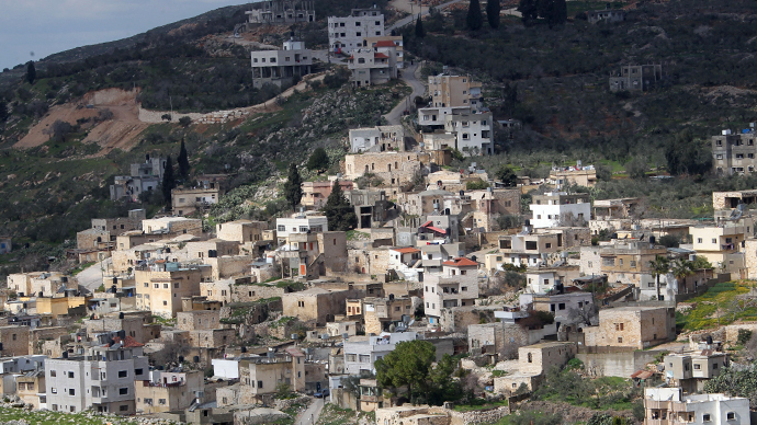 Jewish settlements near the West Bank village of Burin (AFP Photo / Jaafar Ashtiyeh)