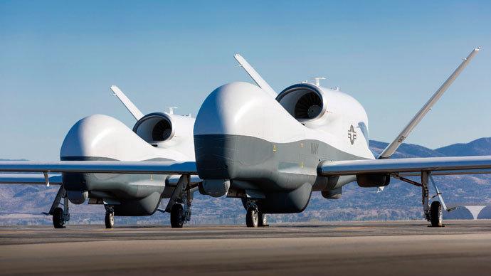Two Northrop Grumman MQ-4C Triton.(Reuters / Chad Slattery)