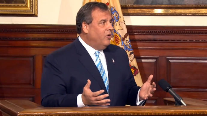 Governor Christ Christie.(Screenshot from YouTube user GovChristie)