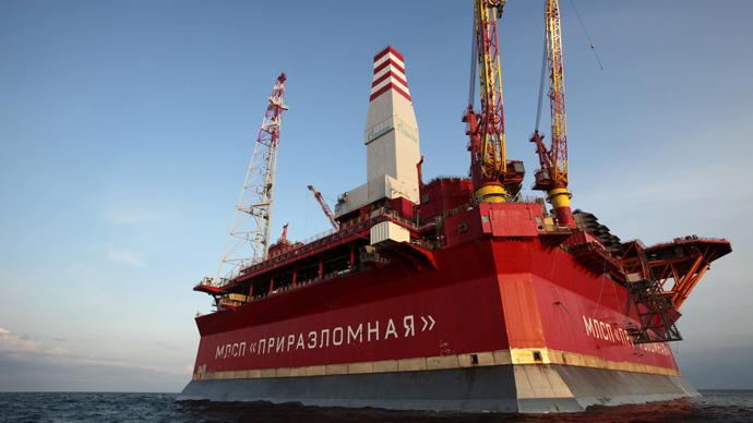 The Prirazlomnaya oil rig (RIA Novosti / Igor Podgorny)