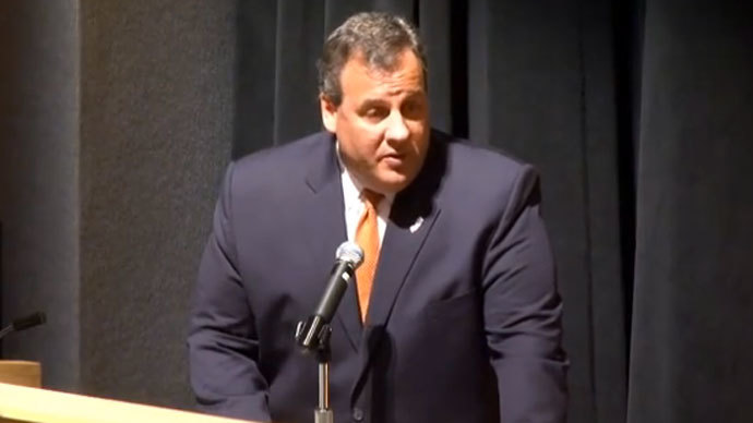 Governor Chris Christie (Screenshot from YouTube user GovChristie)