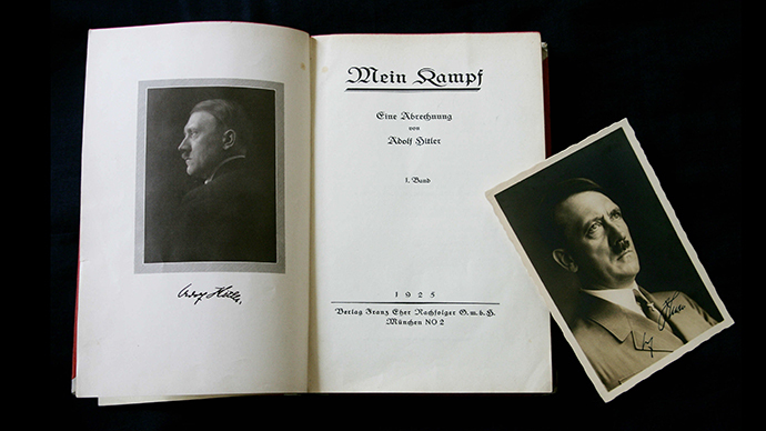 A signed copy of a first edition of Adolf Hitler's book Mein Kampf (AFP Photo / Carl de Souza)