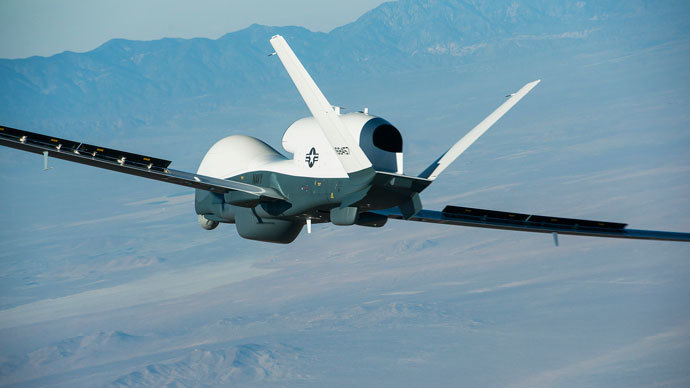The Triton unmanned aircraft system.(Reuters / Bob Brown)