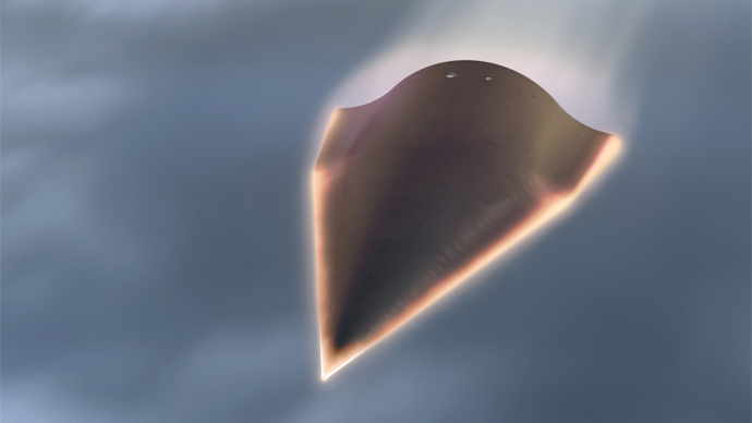 Artist's rendition of the Falcon Hypersonic Technology Vehicle 2 by DARPA, image from darpa.mil