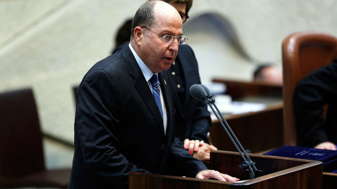 Israel's Defence Minister Moshe Yaalon speaks during a swearing-in ceremony, at the Knesset, Israeli Parliament, in Jerusalem March 18, 2013.(Reuters / Baz Ratner)