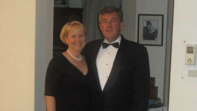 American diplomat Wayne May and his spouse Alicia Muller